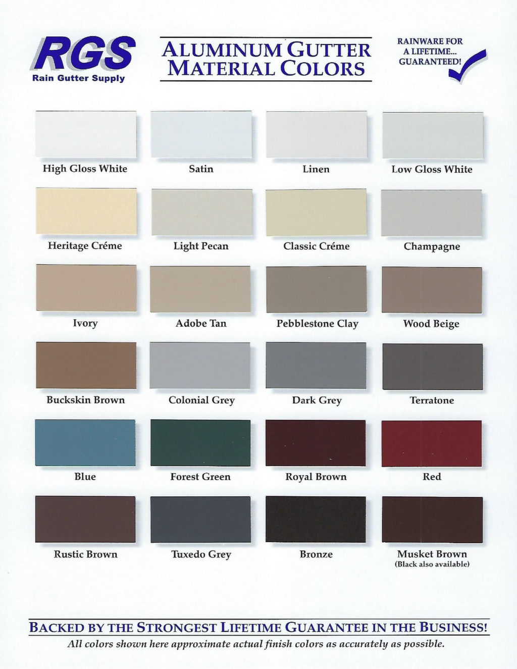 Rain Gutter Colors & Types | Custom Rain Gutter Los Angeles